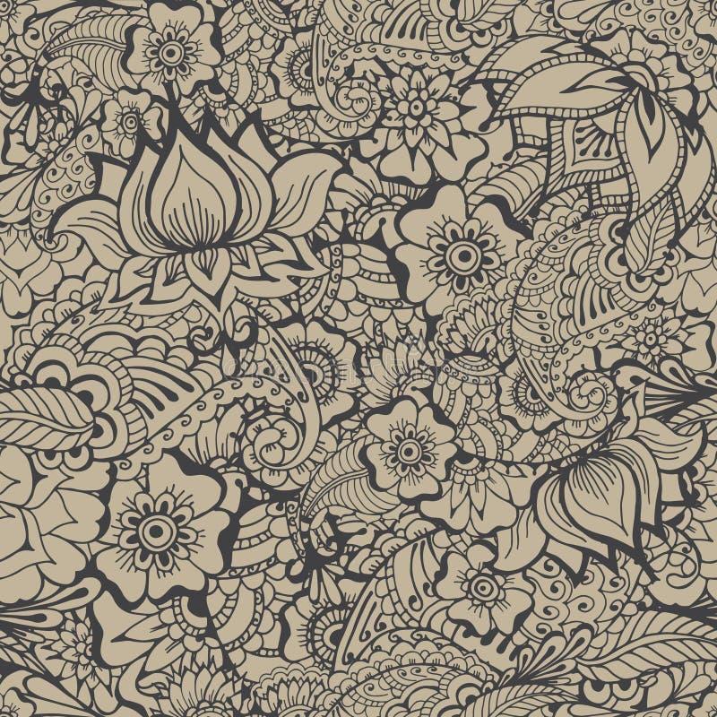Modèle de fleurs de Mehndy illustration libre de droits