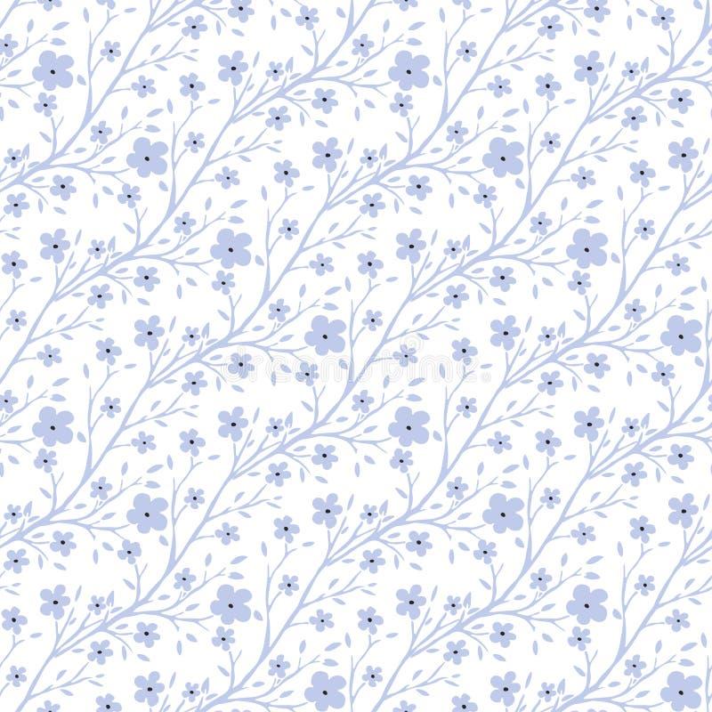Modèle de fleurs minuscule de vecteur Modèle sans couture de vintage pour la conception de tissu ou d'emballage illustration de vecteur