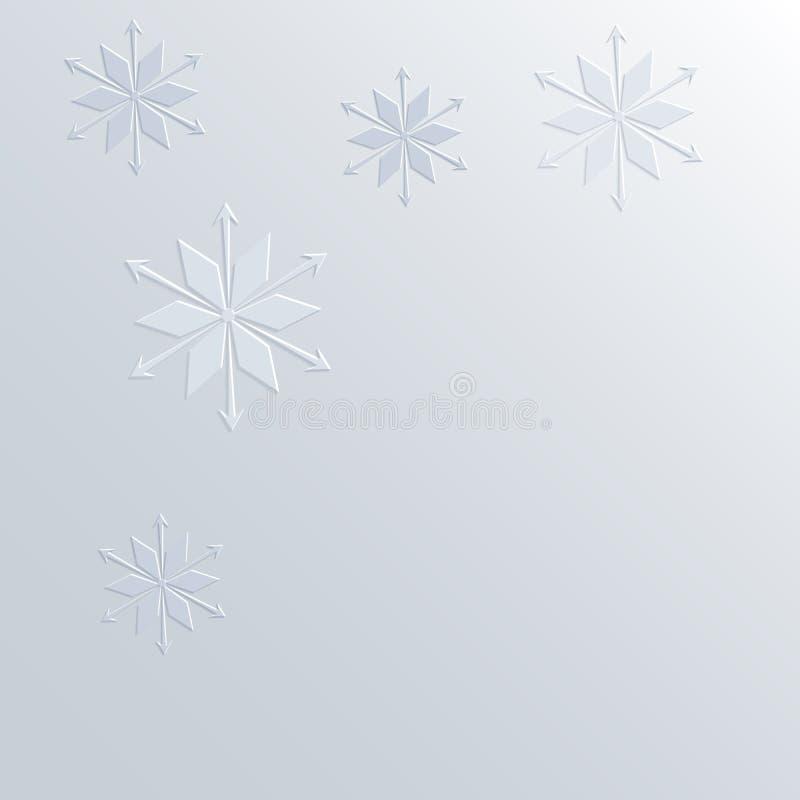 mod le de flocon de neige sur la bordure de papier du fond 3d illustration stock image 61525607. Black Bedroom Furniture Sets. Home Design Ideas