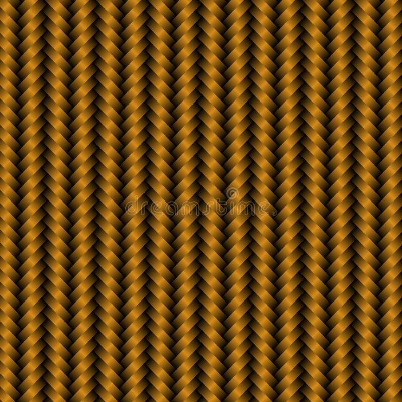 Modèle de fond de carbone en métal d'or illustration stock