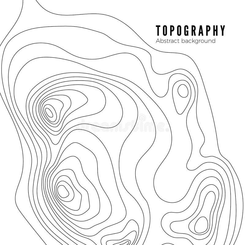 Modèle de fond de découpe de carte topographique Concept de carte de paysage de découpe Carte géographique abstraite de topograph illustration libre de droits
