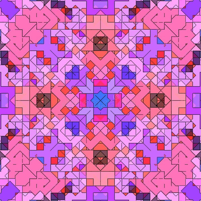 Modèle de fond d'abrégé sur mosaïque souillé, contemporain coloré illustration de vecteur