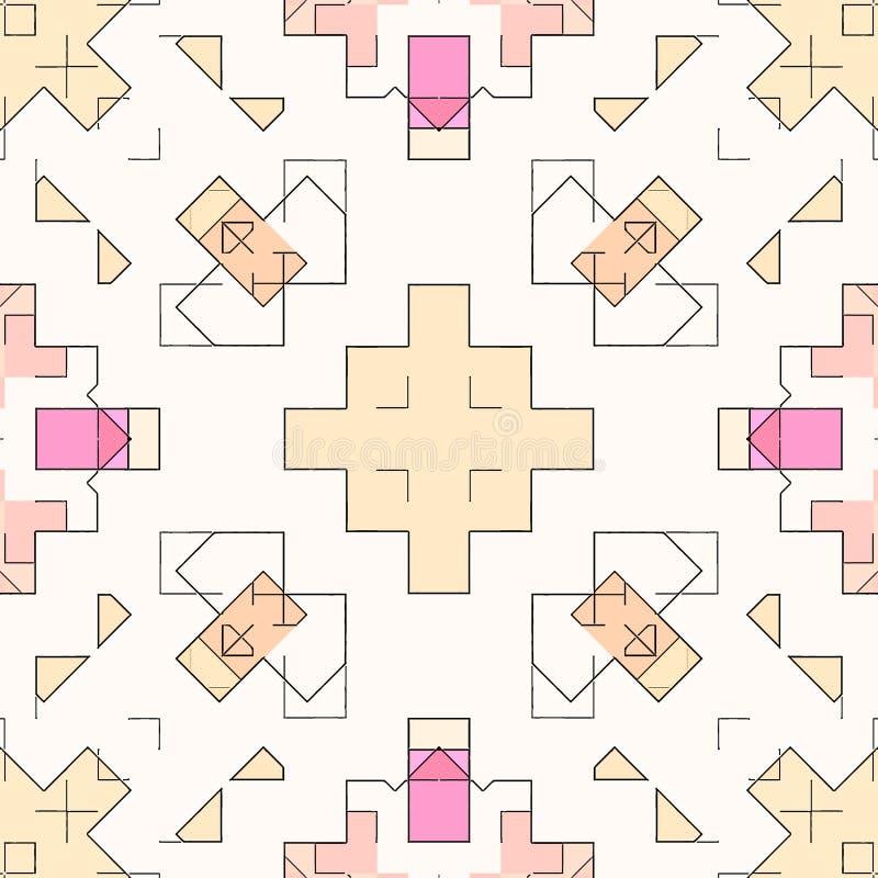 Modèle de fond d'abrégé sur mosaïque souillé, contemporain géométrique illustration stock