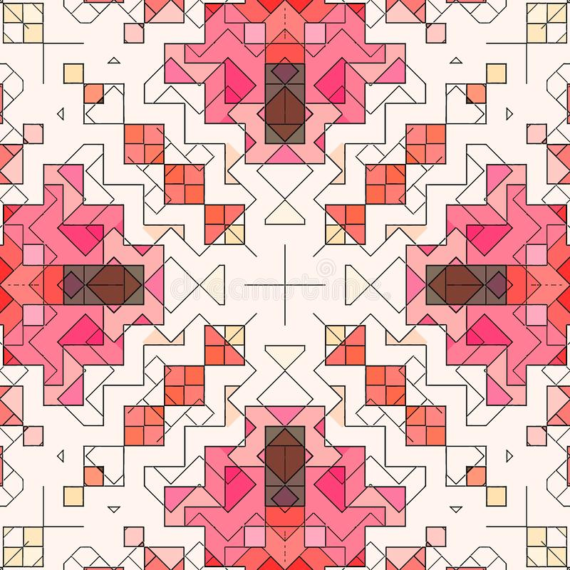 Modèle de fond d'abrégé sur mosaïque souillé, forme d'art illustration de vecteur