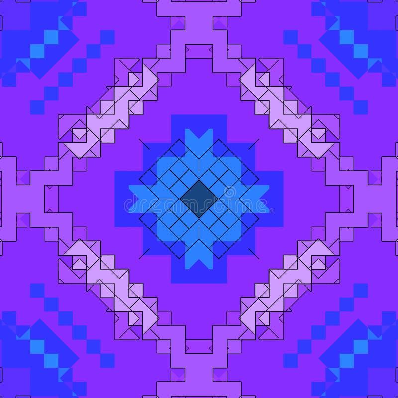 Modèle de fond d'abrégé sur mosaïque souillé, forme colorée illustration de vecteur