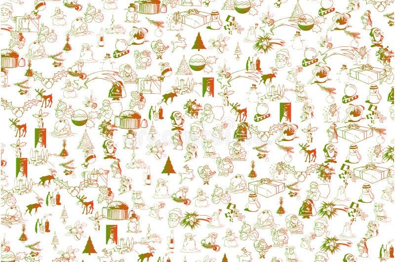 Modèle de fond de vecteur de Noël illustration de vecteur