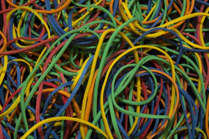Modèle de fond des bandes élastiques brillamment colorées photo stock