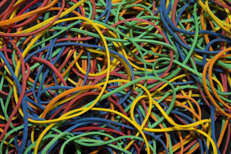 Modèle de fond des bandes élastiques brillamment colorées photos libres de droits