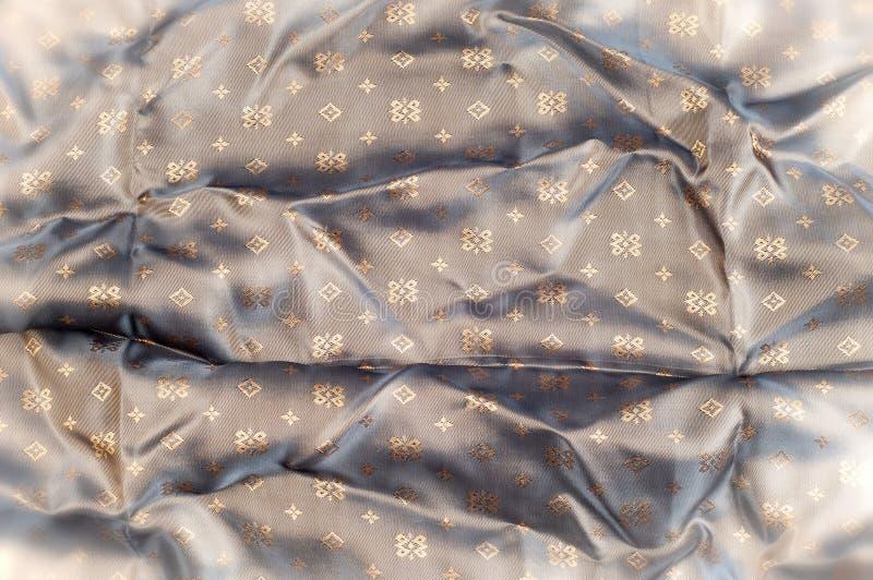 Modèle de fond de texture Tissu en soie de Brown Backgrou abstrait images libres de droits