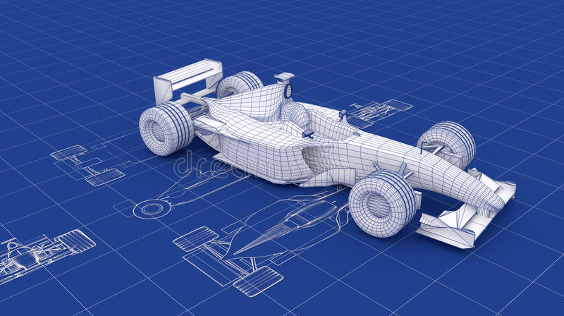 Modèle de Formule 1 illustration de vecteur
