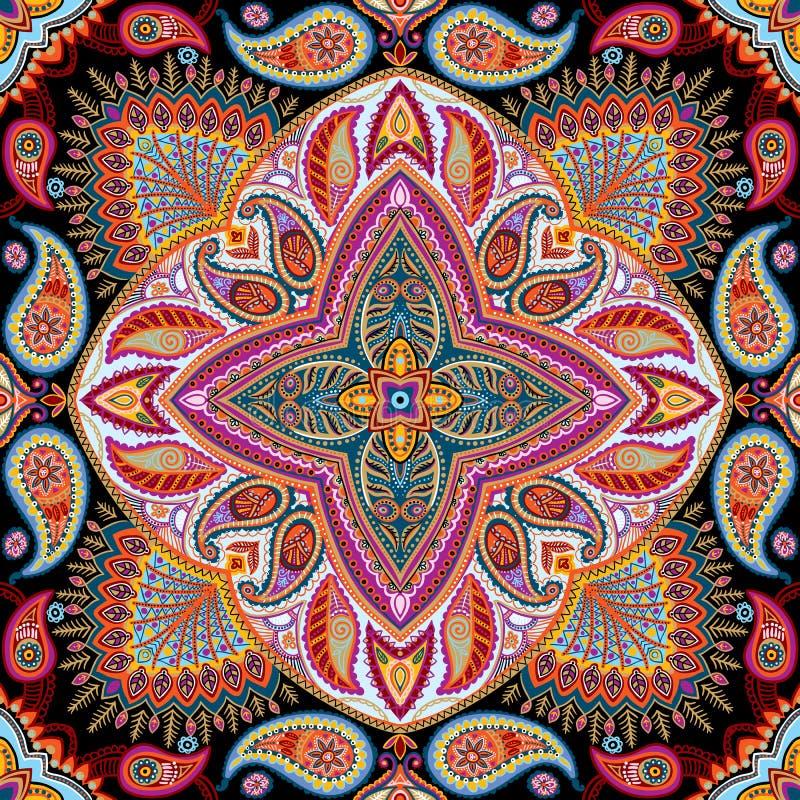 Modèle de foulard illustration libre de droits