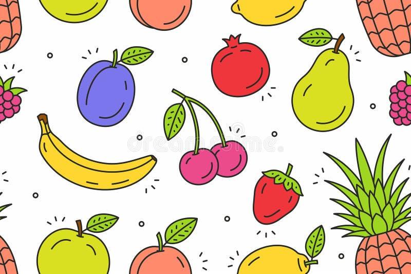 Modèle de fruits illustration stock