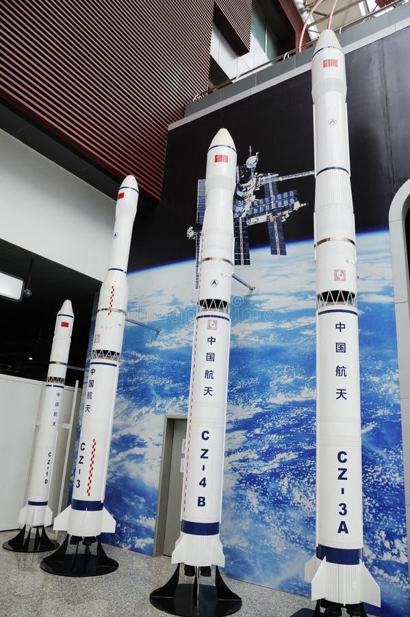 Modèle de fusées chinois de l'espace de série de la CZ photographie stock