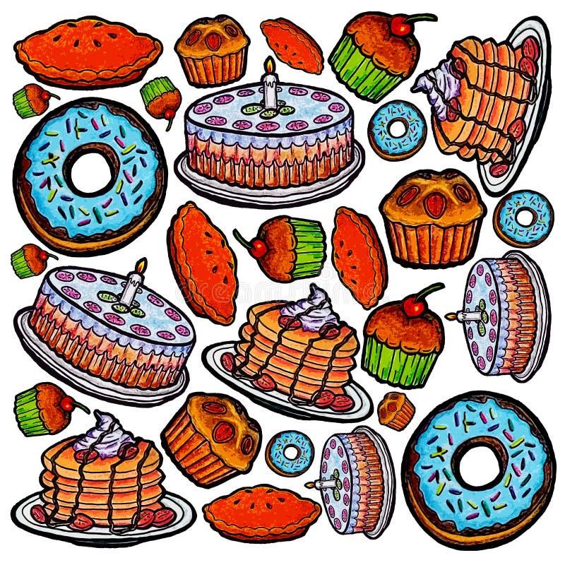 Modèle de gâteaux images stock