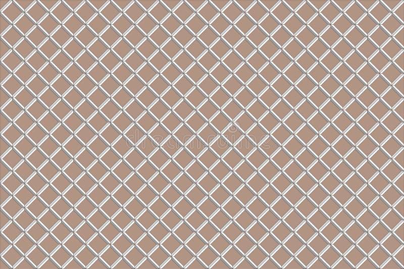 Modèle de gaufre de Brown rendu 3d image stock