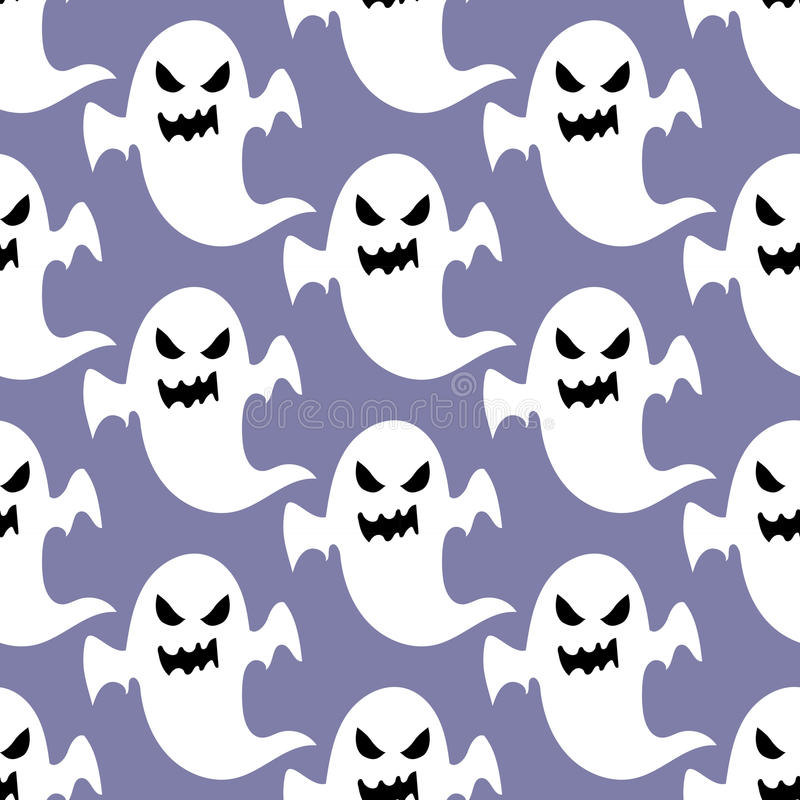Modèle de Ghost Halloween illustration stock