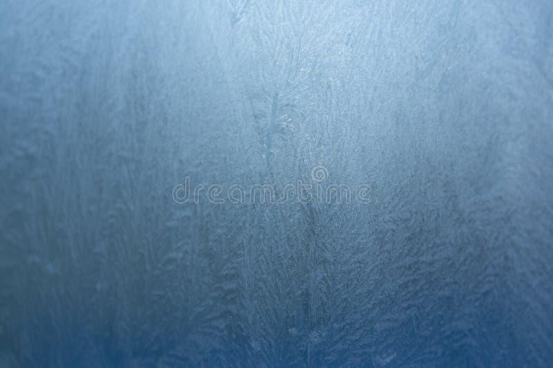 Modèle de glace sur un vitrail photo libre de droits