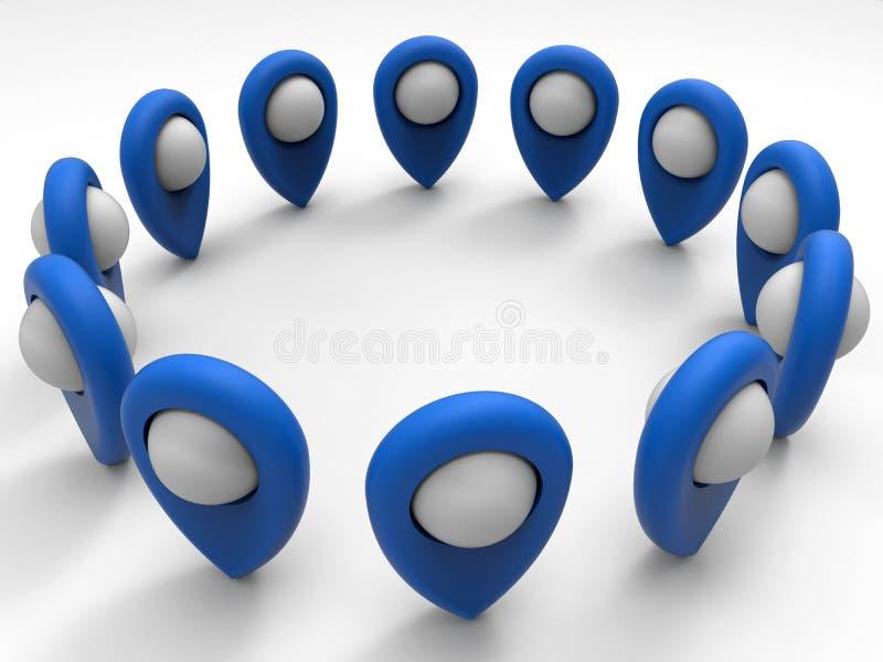 Modèle de goupille de navigation de GPS illustration de vecteur