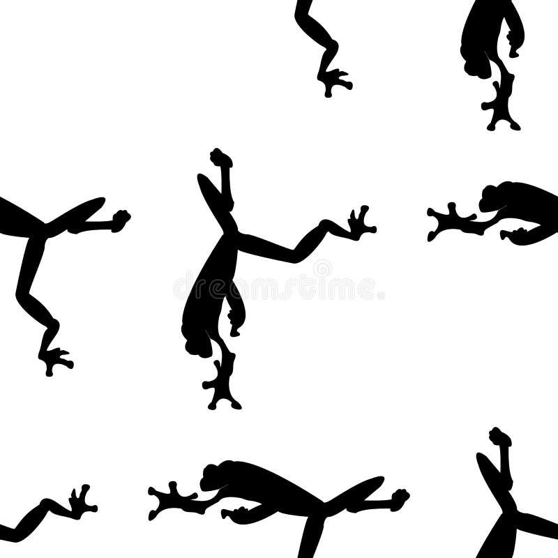 Modèle de grenouille Vecteur de grenouille Icône simple d'isolement sur le fond blanc avec le modèle photos stock