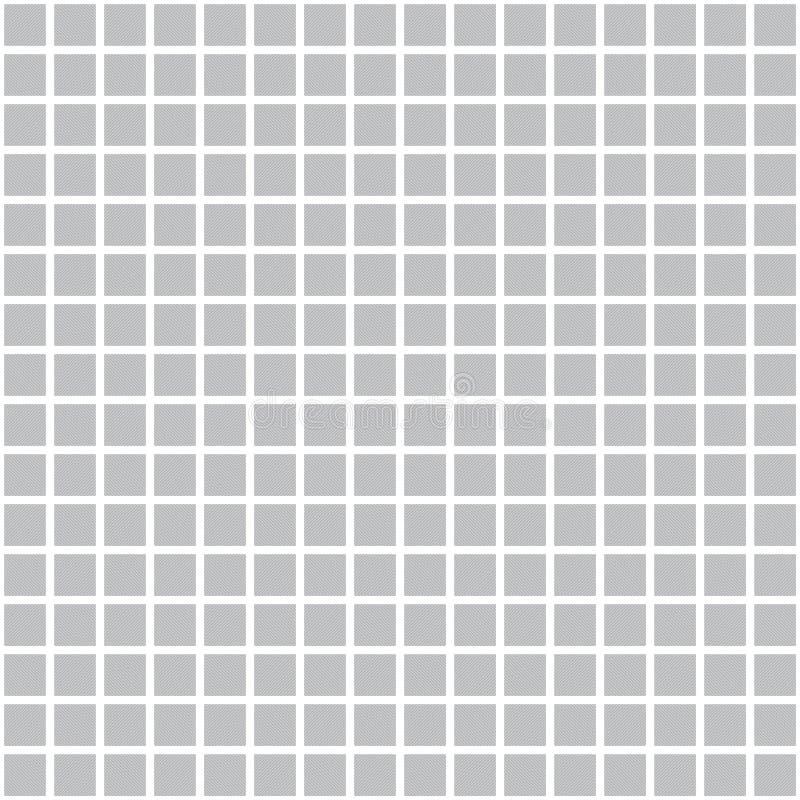 Modèle de grille carré de vecteur gris Texture sans joint illustration libre de droits