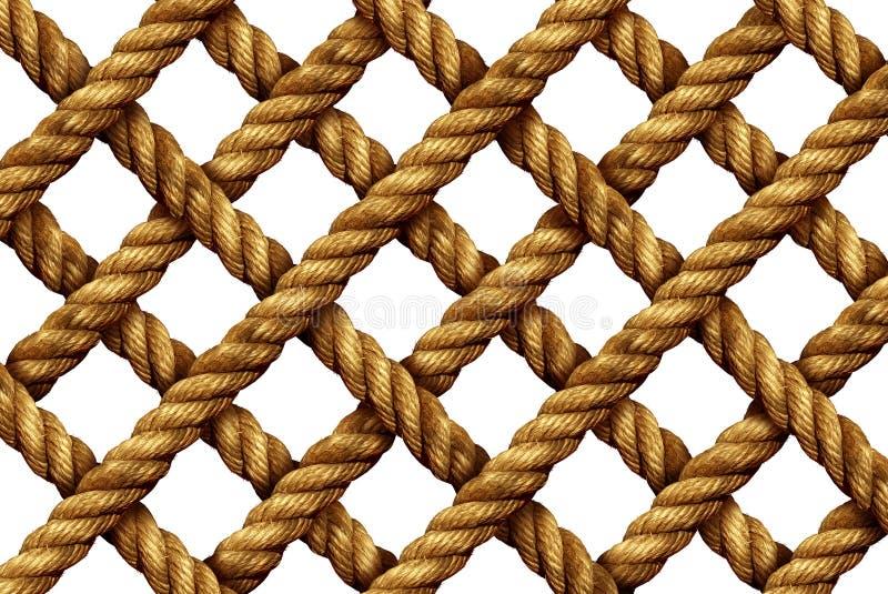 Modèle de grille de corde illustration stock