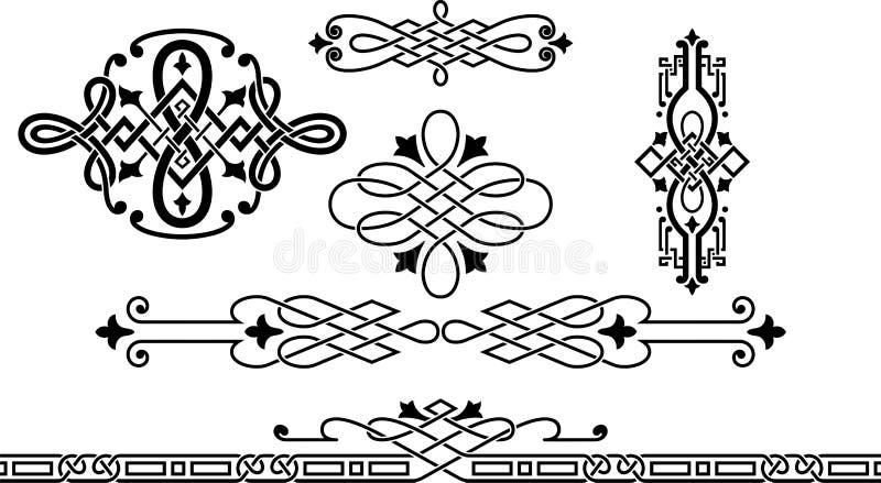 Modèle de guilloche illustration stock