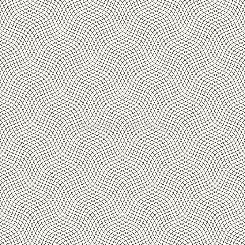 Modèle de guilloche avec les lignes onduleuses diagonales illustration stock