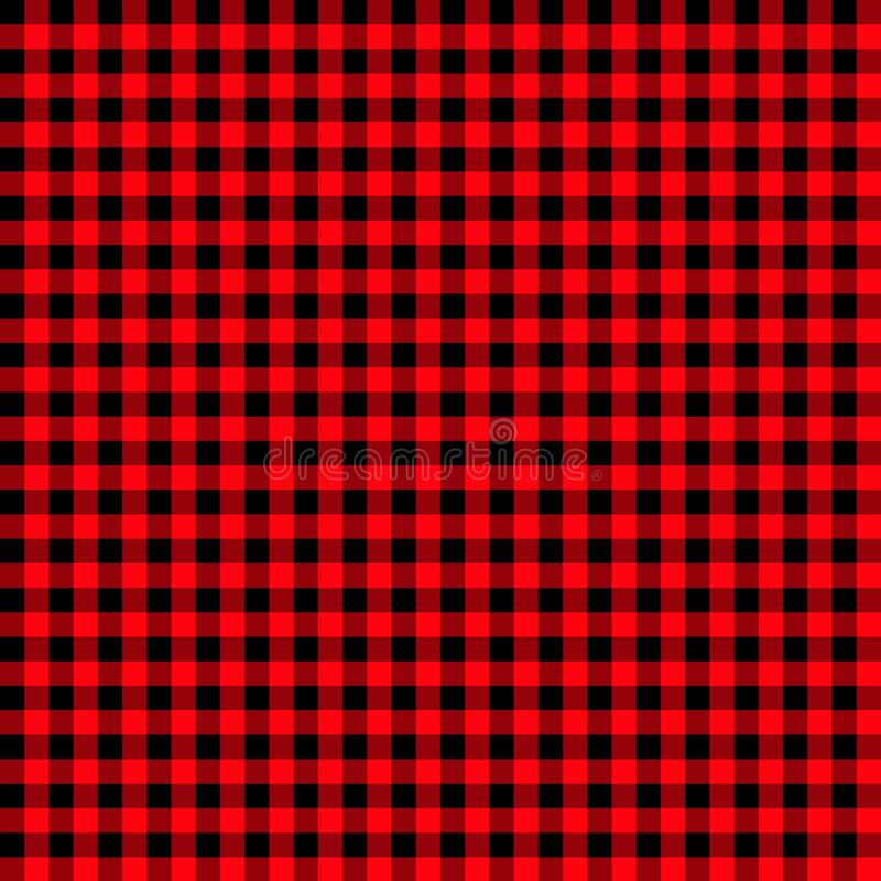 Modèle de guingan de brique réfractaire fond rouge et noir texturisé de plaid plaid de flanelle de contrôle de buffle rouge-clair illustration de vecteur