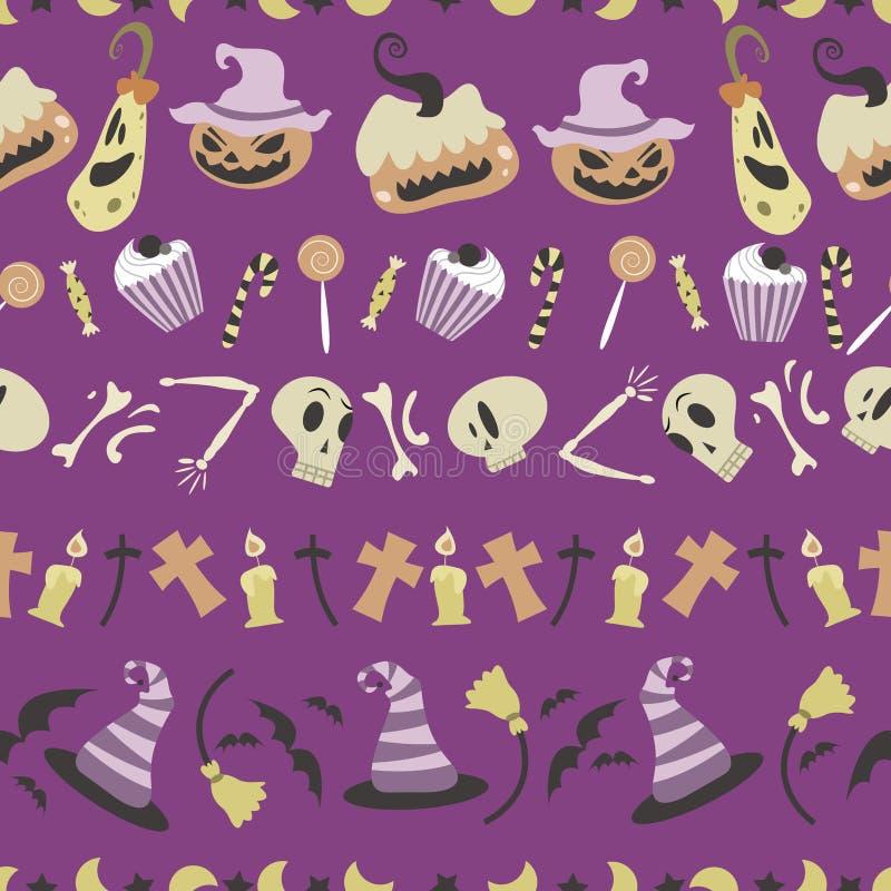 Modèle 01 de Halloween illustration de vecteur