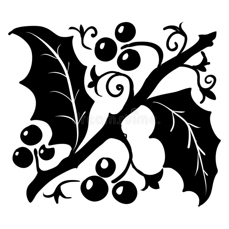 Modèle de Holly Leaf de vintage - illustration de vecteur illustration de vecteur