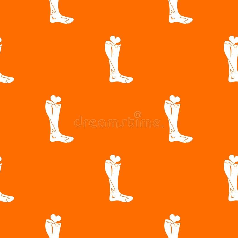 Modèle de jambe de zombi sans couture illustration de vecteur