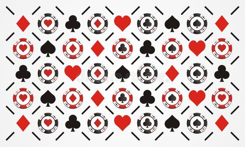 Modèle de jeton de poker image libre de droits
