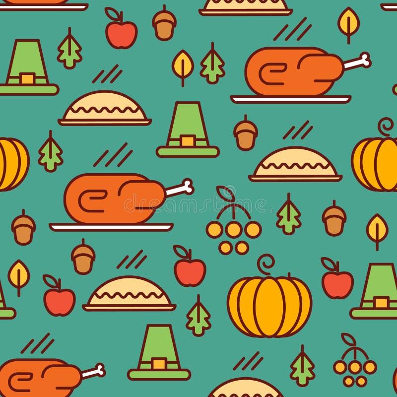 Modèle de jour de thanksgiving illustration de vecteur