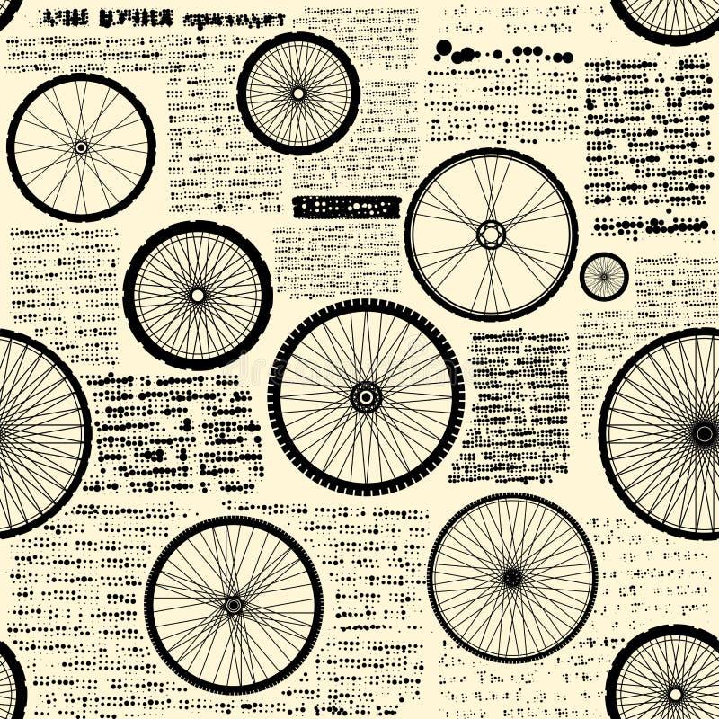 Modèle de journal de vintage illustration libre de droits