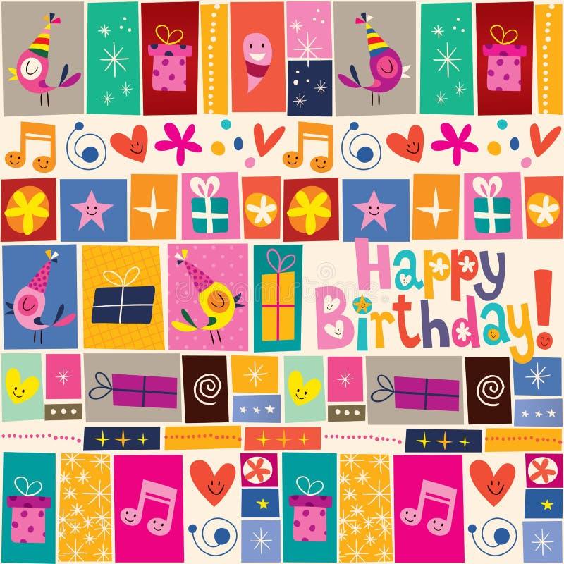 Modèle de joyeux anniversaire illustration libre de droits