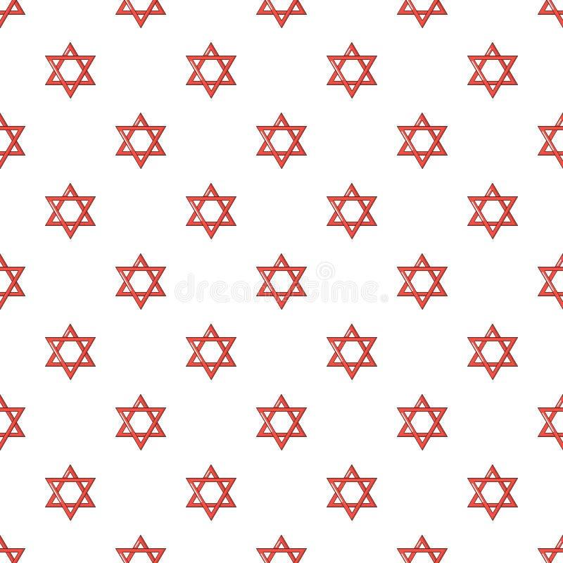 Modèle de judaism d'étoile de David sans couture illustration libre de droits