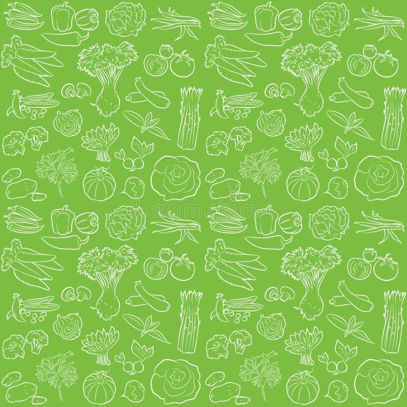 Modèle de légumes illustration stock