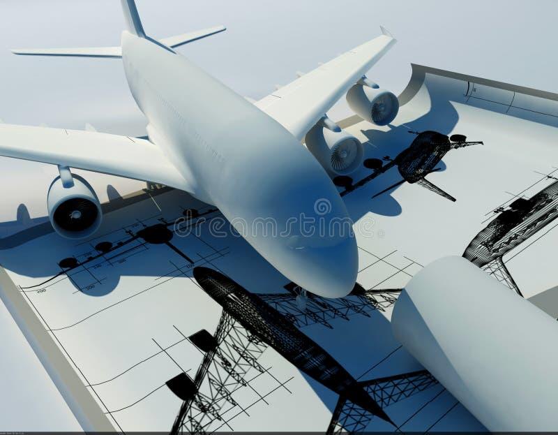 Modèle de l'avion illustration de vecteur