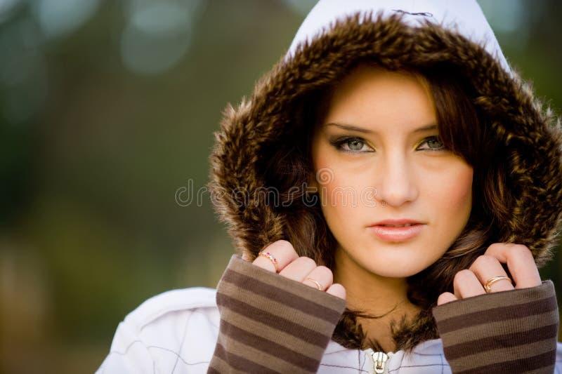 Modèle de l'hiver photographie stock libre de droits