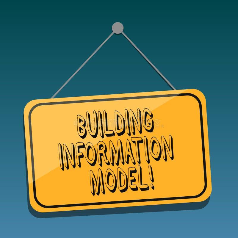 Modèle de l'information de bâtiment des textes d'écriture Représentation de Digital de signification de concept d'accrocher physi illustration stock