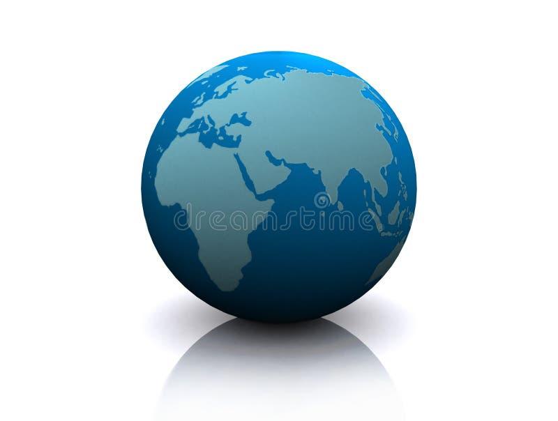 Modèle de la terre illustration de vecteur