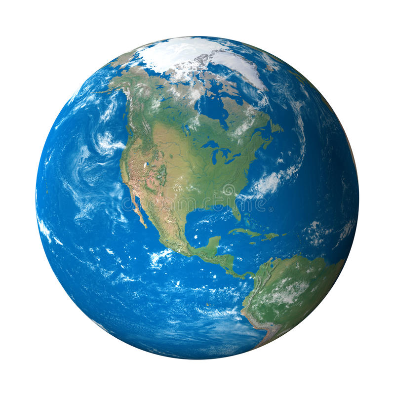 Modèle de la terre de l'espace : Vue de l'Amérique du Nord illustration libre de droits