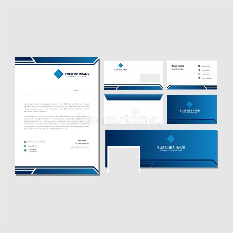 Modèle de lettre bleue groupée images libres de droits