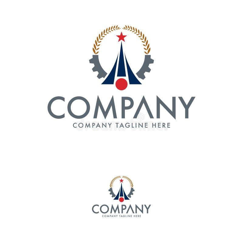 Modèle de logo commercial Résumé d'un logo illustration de vecteur