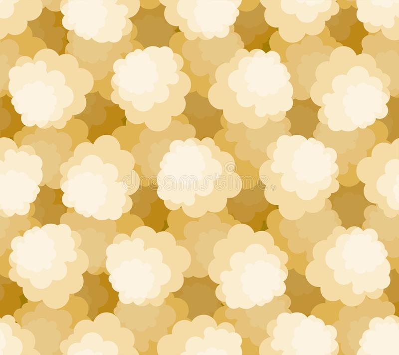 Modèle de maïs éclaté sans couture Fond de maïs d'air Texture de vecteur de style de bande dessinée illustration de vecteur
