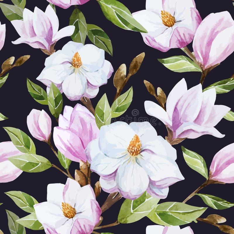 Modèle de magnolia illustration libre de droits