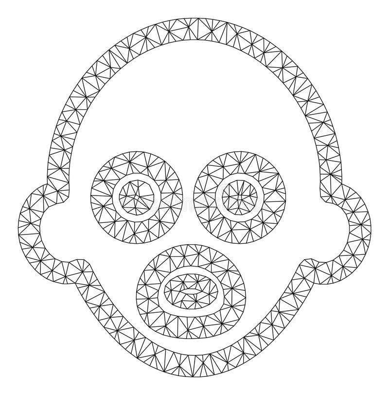 Modèle de maille de vecteur de bébé 2D illustration stock