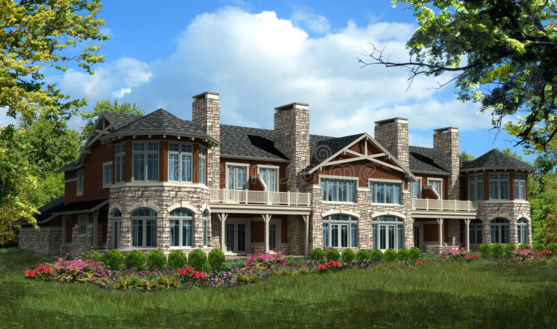 modèle de maison de condominium illustration stock