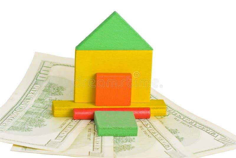 Modèle de maison et de dollars photo libre de droits