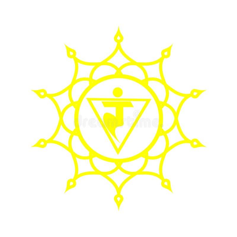Modèle de mandala de cercle Manipura Chakra illustration libre de droits